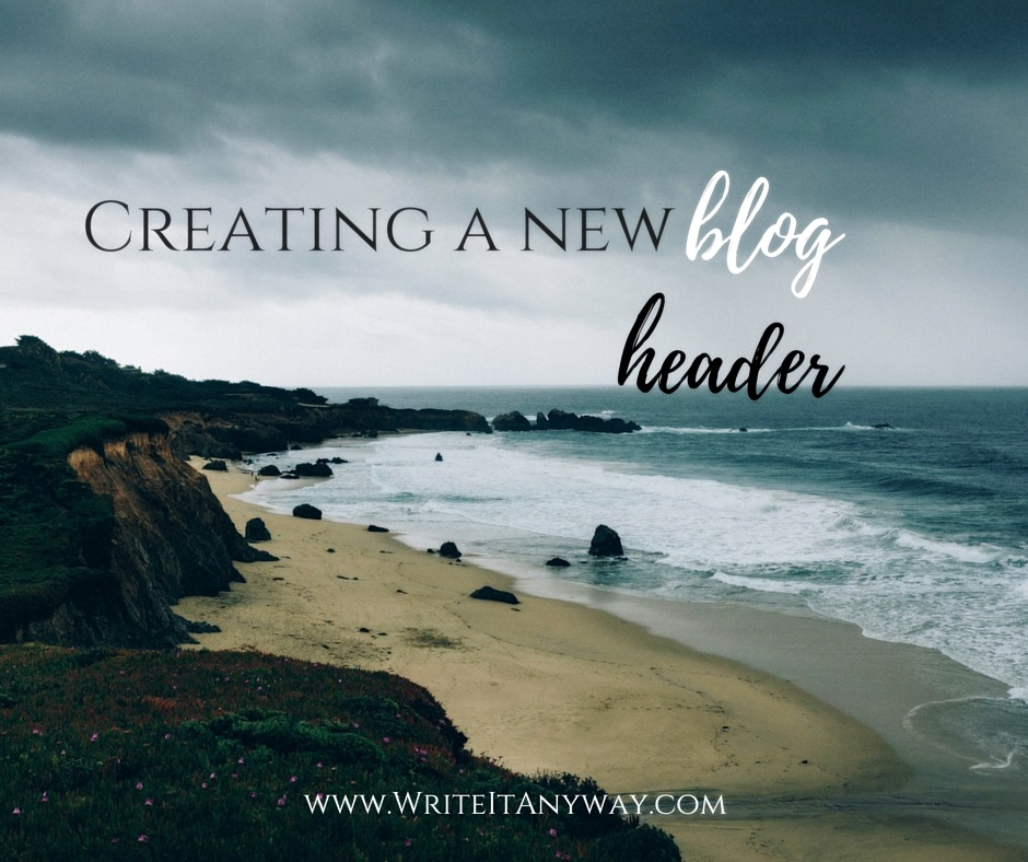 Creating a new blog header